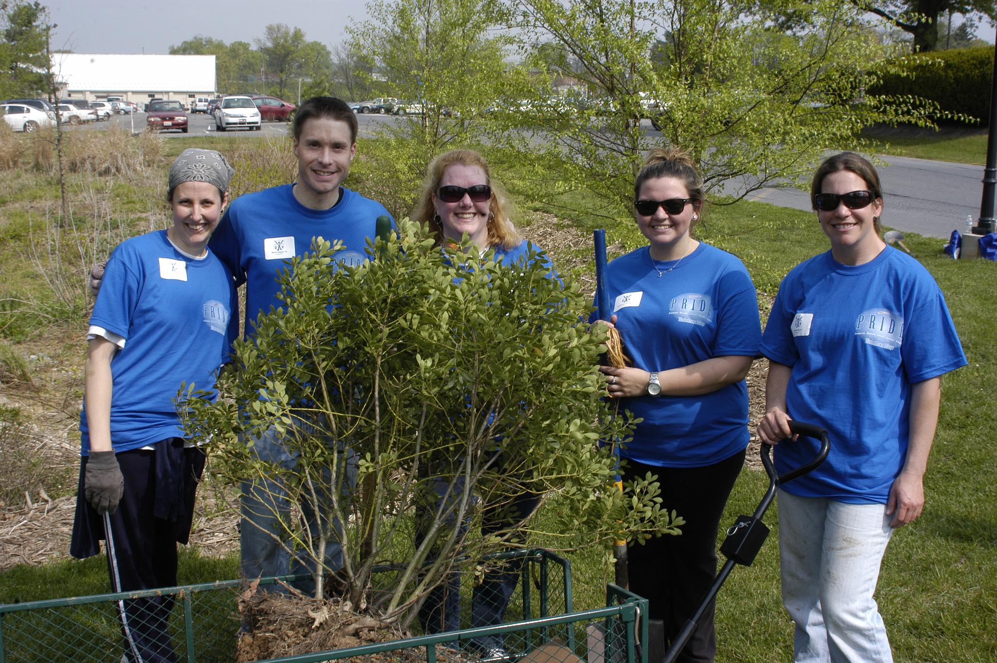 Volunteers Help Clean Up Campus For PRIDE Day