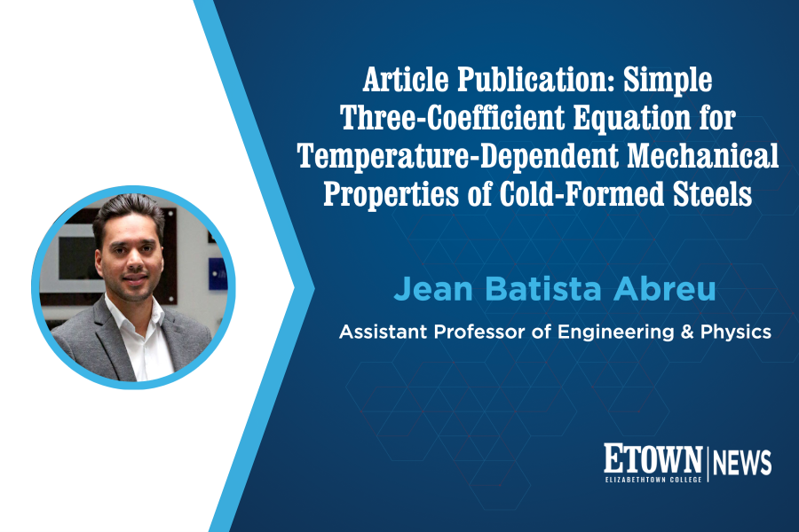 Engineering & Physics Professor's Article Published in Journal of Structural Engineering