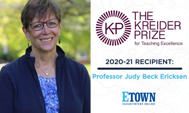 Judy Beck Ericksen Named 2020-2021 Kreider Prize for Teaching Excellence Recipient